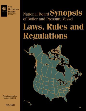 Laws, Rules and Regulations - The National Board of Boiler and ...