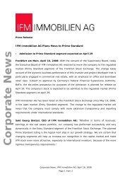 PDF, 44 kb - IFM Immobilien AG