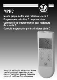 Manual de instalação e instruções de uso MPRC - Soler & Palau