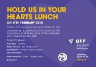 hOld us In yOur hearTs lunch - QEF