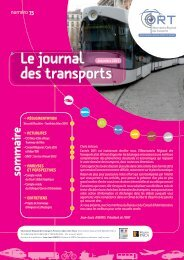 journal des transports n°75 - ORT PACA