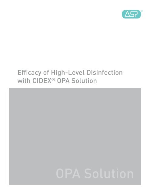 Cidex OPA Disinfectant Solution Datasheet ActiveForever