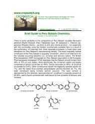www.cropwatch.org Brief Guide to Peru Balsam Chemistry.