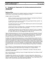 Ansøgning om dispensation fra fortidsmindebeskyttelseslinien ved ...