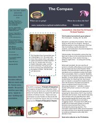 October 2011 Compass - Tennessee Education Association