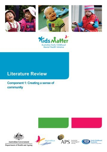 KidsMatter Early Childhood Component 1 Literature Review