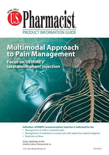 Multimodal Approach to Pain Management Focus ... - U.S. Pharmacist