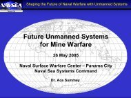 Future Unmanned Systems for Mine Warfare - MINWARA - The Mine ...