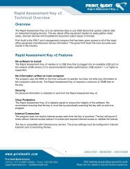 Rapid Assessment Key v2 Technical Overview - Print Audit