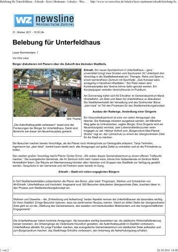 Artikel WZ vom 21.10.2011 - Zukunft Erkrath