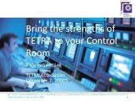 Dedicated TETRA interface