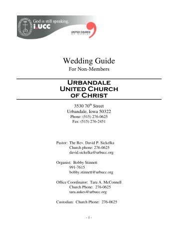 wedding preparation booklet church of the ascension