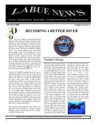 August - Los Angeles Black Underwater Explorers
