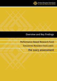 2003 PBRF Evaluating Research Excellence - Tertiary Education ...