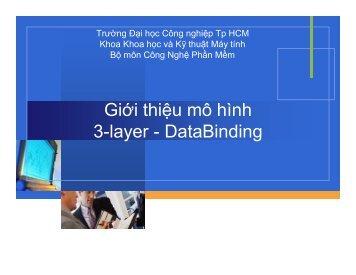 Giới thiệu mô hình 3-layer - DataBinding