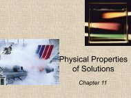 Chapter 14 - Colligative Properties