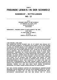 Rundbrief Nr. 12 vom Oktober 2009 - Lewa Schweiz