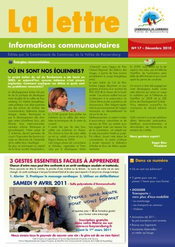 Informations communautaires - Communauté de Communes de la ...