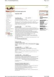Page 1 of 3 Sekis: Veranstaltungshinweise 29.09.2008 http://www ...