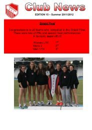 Edition 15 News 2011-2012 - Preston Athletic Club Inc