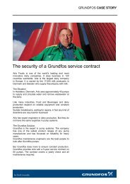 The security of a Grundfos service contract