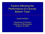 Factors Affecting the Performance of a Survey Bottom Trawl