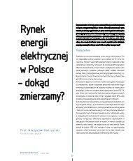 rynek energii elektrycznej w Polsce – dokąd ... - Elektroenergetyka