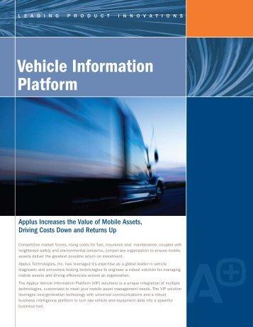 Vehicle Information Platform - Applus Technologies
