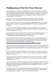 Publikationsliste - Professional School of Education - Ruhr ...