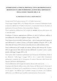 Federalismo demaniale - Sistema delle autonomie locali