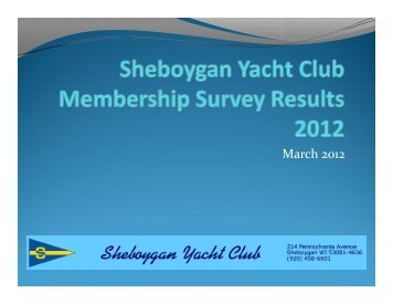 March 2012 - Sheboygan Yacht Club