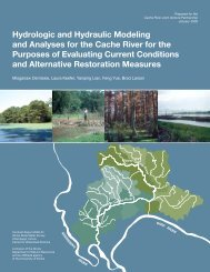 Hydrologic and Hydraulic Modeling and Analyses for the Cache ...