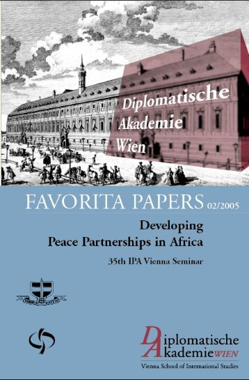 Developing Peace Partnership in Africa