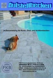 Aufstellen des Schwimmbeckens - FKB Schwimmbadtechnik