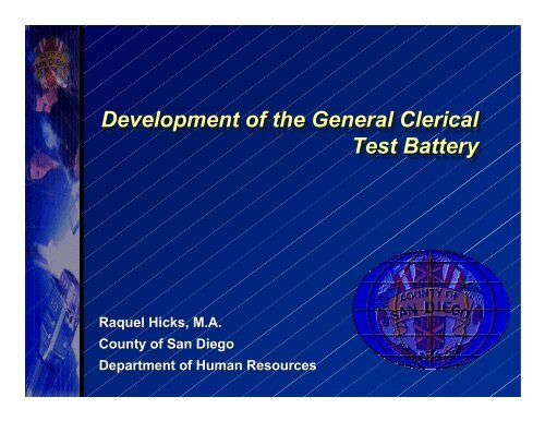 clerical battery test