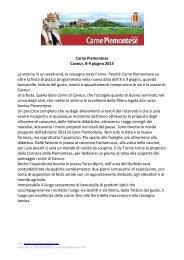Carne Piemontese Cavour, 8-9 giugno 2013 La ... - mediaKi.it CRM
