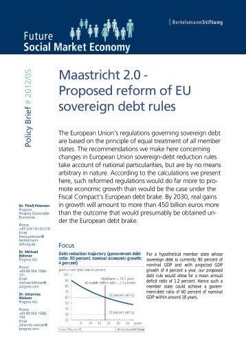 Maastricht 2.0 - Bertelsmann Stiftung