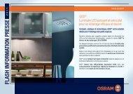 FLASH INFORMATION PRESSE - Osram