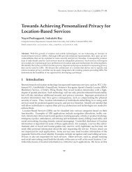 Towards Achieving Personalized Privacy for Location-Based Services
