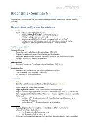 Biochemie- Seminar 6 - Stoffwechsel der Lipide I - wilmnet.de