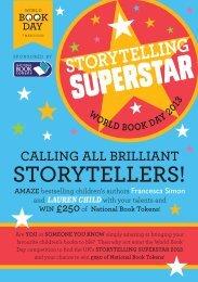 Storytelling Superstar Leaflet - World Book Day