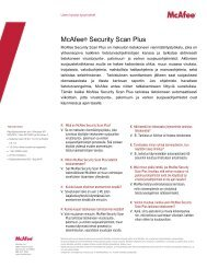 McAfee® Security Scan Plus