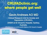 CRUfADclinic.org: where people get well - World of Health IT