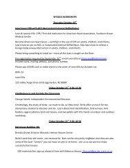 NYSOEA WORKSHOPS Thursday October 20th Heartsaver CPR ...
