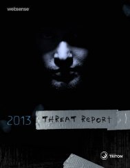 Websense 2013 Threat Report