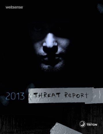 Websense 2013 Threat Report