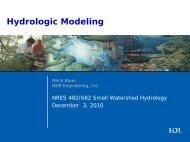 Types of Hydrologic Modeling