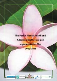 The Pacific Mental Health and Addiction Northern ... - Network North