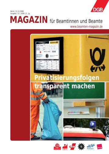 Privatisierungsfolgen transparent machen - Landesbeamte