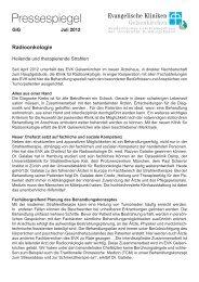 weiter - Evangelische Kliniken Gelsenkirchen GmbH